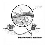 DeWitt Pond Underliner is a durable, clean, and safe material to install under ponds instead of using cardboard, newspapers, sand, or old carpet padding. DeWitt Pond Underliner is constructed of a nonwoven needle punched 6 oz. fabric
