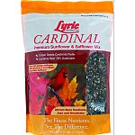 Special mix for cardinals featuring nutrasaff golden safflower, an organic, chemical-free hybrid safflower. Nutrasaff has an extremely thin hull, making it easier for birds to eat and digest. Seeds preclude smaller birds with finer bills yet attract large