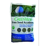 Grass seed accelerator is a starter fertilizer and seed cover Formulated for fast seed germination, as it fertilizes and protects seed growth It retains moisture and regulates soil conditions Accelerator is weed free and totally biodegradable Apply to new