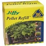 A great choice for refilling most jiffy greenhouse grow trays. Designed to keep peat contained around the roots during transplanting to help avoid shock. Each peat pellet expands 7 times the compressed height, providing plants plenty of space to develop y