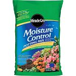 The Miracle Gro Moisture Control Potting Mix effectively retains 33 percent more water then regular soil, so your plant stays hydrated longer. Contains Aquacoir, a mix of coconut fibers, sphagnum peat moss and a wetting agent, which aids in retaining wat