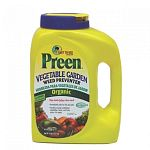 Protect your garden and flowerbeds from weeds by using Preen Organic Vegetable Garden Weed Preventer. It prevents annual weeds from growing in vegetable gardens, flowerbeds, around trees and shrubs. Safe for use around children and pets.
