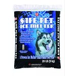 A proven ice melter that is safe for pets. For use on sidewalks, driveways and parking areas. Noncorrosive. Environmentally friendly. Prevents ice and snow from rebonding. Does not contain salt of any kind.