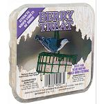Berry Suet Treats by C and S are sold in a case of 24 for convenience. They are sure to make your backyard buffet irresistible to wild birds and they are ideal for year round feeding. Easy to fill, just place in a suet basket and hang!