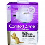 Comfort Zone Plug-in reduces or completely stops stress-related behavior in most cats, including: urine marking, vertical scratching, loss of appetite, reduced desire to play or interact and other stress-related behaviors -Farnam-