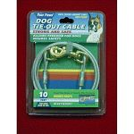 Heavy weight cable ensure pet safety while allowing complete freedom. Rust-proof chains. For dogs over 50 lbs.