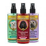 Magic Coat sprays can be used daily or in between baths to keep dogs smelling fresh and clean. They are formulated with UV oils to protect pets from the sun. Now with 3 refreshing scents there is no better way to rid your pet of unwanted odors.