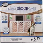 Features a modern and elegant wood design to complement any home decor Provides small pet households with ease and flexibilty in containing their pet It sets up in seconds and expands from 26 to 42  wide no tools or assembly required This versatiltiy pr