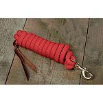 Hamilton 10 foot Cowboy Braided Poly lead for horses. It is made of the highest quality 5/8 inch poly rope. Includes brushed nickel matte swivel bolt snap.  Use as a lead for horses.
