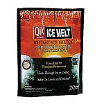 All ice melters melt ice - but Qik Joe is the best ice melter available. Qik Joe Ice Melt, Calcium Chloride Pellets (Peladow), is the best ice melter available. All ice melters need to form a brine solution to melt ice and snow.