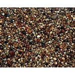 Premium polished natural gravel.