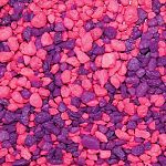 Premium fresh water aquarium aggregates. Pink and purple.