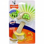 Helps clean teeth and massage gums Hands free brushing Discourages distructive chewing Recommended for dogs up to 25 lbs For powerful chewers