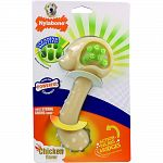 Helps clean teeth and massage gums Hands free brushing Discourages distructive chewing Recommended for dogs up to 50 lbs For powerful chewers