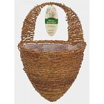 The Gardman Rustic Rattan Hive Wall Basket has a natural look that is great for hanging flowers or plants indoors or out on a wall. The plastic liner prevents the water from leaking, while the galvanized steel frame adds strength to ensure long life.