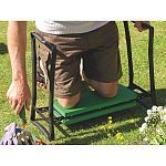 Getting up and down to those garden chores can be quite a strain on both the back and knees, especially in the wet. This clever soft kneeler is a handyman`s boon, robust steel tubing designed around a comfortable kneeling platform.