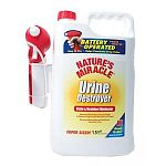 Advanced penetrating formula begins to destroy tough-to-get-out odors on contact. Removes yellow stains and stickiness caused by urine. Includes batteries for power sprayer.