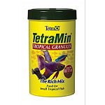 Similar in formulation to TetraMin flakes, these TetraMin Tropical Granules are specifically designed for small, mid water feeding fish. Granules slowly sink into the water column, allowing all of the fish to feed.