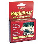 "ReptoTreat Delica Bloodworms for Reptiles are a ""Squeeze-n-feed"" treat that contains whole bloodworms or insect larvae. Bloodworms are stored in a nutritious gel that is in an easy-to-open packet. Great nutrition for all aquatic reptiles and amphibians."