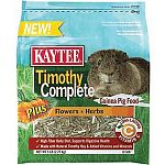 Nutritionally fortified daily diet made with fiber-rich, sun-cured timothy hay combined with other essential ingredients. Formulated specifically for guinea pigs. Flowers and herbs provide antioxidants with flavor pets love. Provides complete nutrition. A