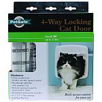 For cats up to 15 lbs, 6.25 x 5.5 flap opening 4- way security lock: in only, out only, opened, locked See-through rigid flap with magnetic seal Includes optional tunnel for doors/wall 2 inches thick Installation instructions included One year manufactu