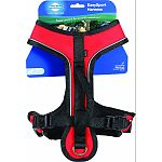 Fits dogs with girth of 18 to 22 inches, such as shelties, terriers and pugs. A great harness for daily wear Two adjustment points for maximum comfort Two quick-snap buckles for ease of use Convenient top leash attachment Padded handle for extra control