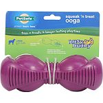 For large dogs over 50 pounds - retriever, shepherd, boxer Patented treat meter randomly dispenses treats to keep your dog chewing longer Squeaker adds extra fun For medium strength chewers Top rack dishwasher safe