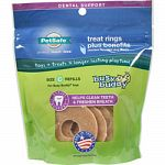 Chicken flavored with tough texture to provide long-lasting chew experience Formulated to clean teeth and freshen breath Used for busy buddy toys All natural treats Made in the usa