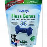 For dogs 5-25lbs, cleans teeth and gum lines as dog chews Contains vitamins a & e, chicken flavoring plus dried blueberries for healthy immune system Grain free, no corn or soy Helps reduce tartar buildup Easy to digest Made in the usa