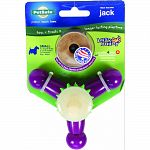 3 chewing surfaces for dogs to gnaw on, recommended for dogs over 6 months weighing 8-20 lbs Durable nylong bone, rubber nubs, and nylon bristles stimulate gums and help clean teeth Designed with chicken flavored refillable treat rings entice your dog to