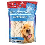 100 percent american beefhide chews provide unsurpassed quality combined with full flavor. Contains more and thicker fibers for a longer lasting chew with great american bred taste. Satisfies your pet s natural urge to chew while helping to promote great