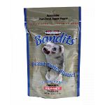 Marshall bandit treats are meat based treats. Ferrets are strict carnivores that need meat based protein. Low temperature processing maintains high protein levels. Soft morsels are easily digestible. Reseal able stand up pouch.