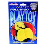 The perfect iteractive toy for ferrets and their owners. The pull-n-go play toy is complete with vibrating mechanism . Will provide prime entertainment . Works best when used on aflat, hard surface. Simply pull the string and watch the ferrets as they lea