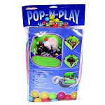 This action-packed activity center was made with ferrets in mind. They love jumping in and out of the holes and tunneling through the colorful balls. The velcro tab attaches to furntiure, cage or playpen to prevent tipping. For extra fun, insert the super
