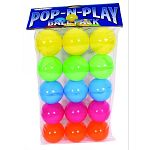 Great for adding to marshall pop-n-play ball pit. Vibrant colors and durable plastic, easy to clean. Washing instructions: hand wash in mild soapy water and rinse clean.