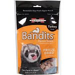 Your ferret will love these crunchy, natural treats made with 100% whole raw turkey. Loaded with protein and natural flavor, these all-meat treats are created by a delicate freeze-drying process. Shaped into bite-sized morsels, they re perfect for ferret