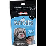 Your ferret will love these crunchy, natural treats made with single source, whole animal protein. Loaded with protein and natural flavor, these all-meat treats are created by a delicate freeze-drying process. Shaped into bite-sized morsels, they re perfe