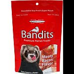 Bandits are soft & chewy morsels that provide exciting flavor while still upholding a healthy nutritional value. Bandits are protein based, making them a healthy choice Low in sugar , healthier snacking , happier ferret