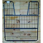 Dimensions: 1.25 l x 52 w x 62 h Fits inside a 55 opening, gate measures 52 wide Fully welded 1 square tubing, 16 gauge, machine weld 1/4 diameter welded rod Foal friendly screen at the bottom of the stall gate. The mesh is made with 1 gaps Hinges so