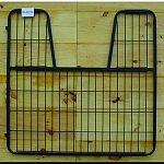 Dimensions: 1.25 l x 52 w x 50.5 h Fits inside a 55 opening, gate measures 52 wide Fully welded 1 square tubing, 16 gauge, machine weld 1/4 diameter welded rod Foal friendly screen at the bottom of the stall gate. The mesh is made with 1 gaps Hinges