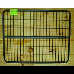 Dimensions: 1.25 l x 52 w x 42 h Fits inside a 55 opening, gate measures 52 wide Fully welded 1 square tubing, 16 gauge, machine weld 1/4 diameter welded rod Foal friendly screen at the bottom of the stall gate. The mesh is made with 1 gaps Hinges so