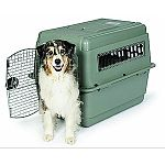 Features a heavy-duty plastic shell and durable wire doors that interlock for added security. Wire ventilation windows to promote healthy air flow. Includes: live animal labels, id label, food & water cups and absorbent pad