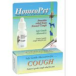 Help to relieve your dog or cat's cough with is all-natural remedy by HomeoPet. Formulated to help relieve cough caused by exposure to other animals. Easy to administer. Use for minor coughs.