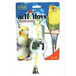These Activitoys were developed to exercise the birds body and mind. For parakeets, cockatiels and similar sized birds.