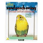 Your pet bird will enjoy swinging on this Sand Perch Swing by JW Pet Company. In addition to providing entertainment, it's coated with sand to wear and smooth bird claws and varies in diameter to help provide a work out for bird feet muscles.