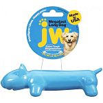 Durable, floatable, rubber-like chew toy is mega-strong, mega-bouncy, and mega-fun. With a built-in squeaker.