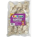 Natural flavor rawhide bones a treat your prcious pouch is sure to thank you for.