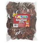 Feed these treats outdoors or on a washable surface. Always provide fresh water for your dog. 2 lb. beef flavor rawhide chips.
