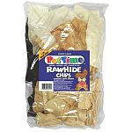 Assorted Rawhide Chips for Dogs - 16 oz.  Dog treat. Beef, Chicken and peanut butter flavoring.