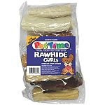 Delicious rawhide curls for dogs and puppies - assorted in a 1 pound bag.